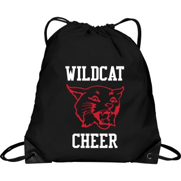 Wildcat Cheer Bag Port &amp; Company Drawstring Cinch Bag