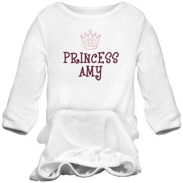 Princess Amy Infant Bella Baby 1x1 Rib Long Sleeve Sleeper