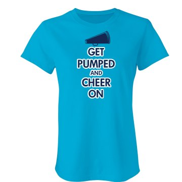 Get Pumped And Cheer On Junior Fit Bella Sheer Longer Length Rib Tee