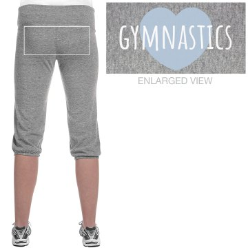 Gymnastics Love Junior Fit Soffe Fleece Capri