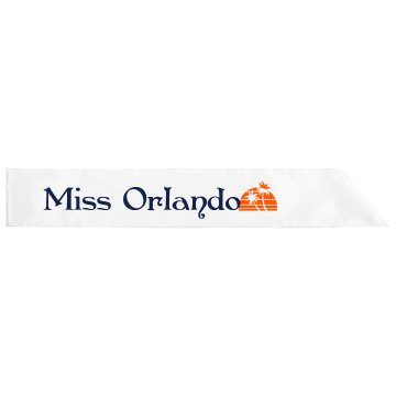 Miss Orlando Adult Satin Party Sash
