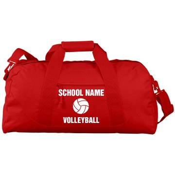 Cal High Volleyball Bag Port & Company Large Square Duffel Bag