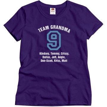 Team Grandma Misses Relaxed Fit Gildan Ultra Cotton Tee