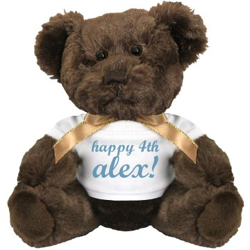Happy 4th Alex Bear Medium Plush Teddy Bear