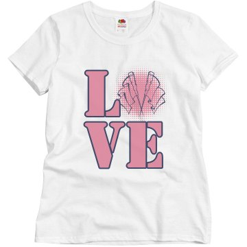 Color Guard Love Misses Relaxed Fit Basic Gildan Ultra Cotton Tee