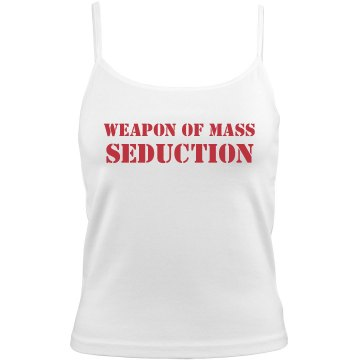 Weapon of Mass Seduction Junior Fit Bella Slit V-Neck Tee