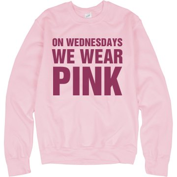 Wednesdays Wear Pink Crew Unisex Gildan Heavy Blend Sweatshirt