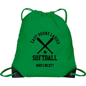 Ladies Softball Port & Company Drawstring Cinch Bag