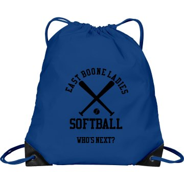 Ladies Softball Port &amp; Company Drawstring Cinch Bag