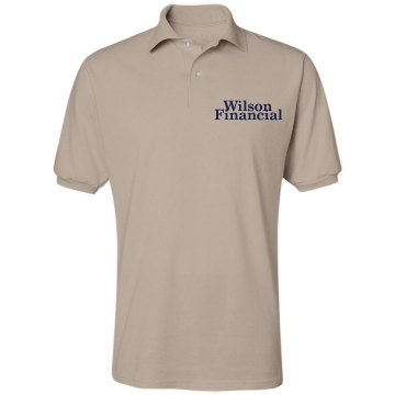 Wilson Financial Unisex Jerzees Spotshield Polo Shirt