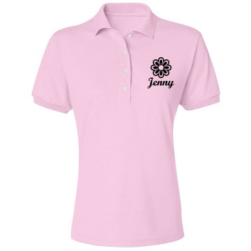 Jenny Misses Relaxed Fit IZOD Silkwash Stretch Polo