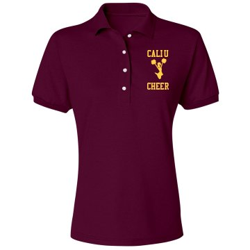University Cheer Team Misses Relaxed Fit Jerzees Spotshield Polo Shirt