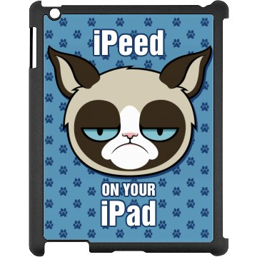 A Grumpy Cat Hates iPads Black iPad Snap-on Case