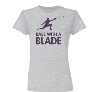 Babe With A Blade Junior Fit Basic Bella Favorite Tee