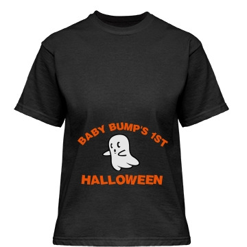 Baby Bump's 1st Halloween Misses Relaxed Fit Gildan Heavy Cotton Tee