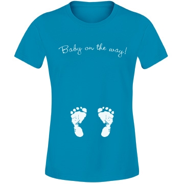 Baby On The Way Feet Tee Misses Fit Anvil Lightweight Fashion Tee