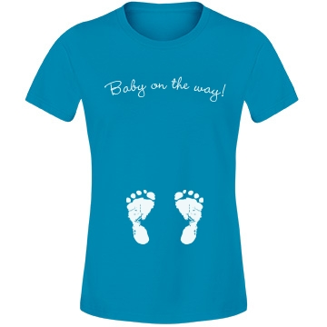 Baby On The Way Feet Tee Misses Relaxed Fit Anvil Lightweight Fashion Tee