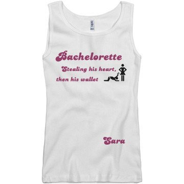 Bachelorette Sara Junior Fit Basic Bella 2x1 Rib Tank Top