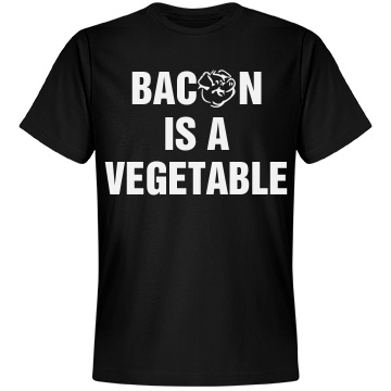 Bacon is a Veggie Unisex Anvil Light