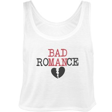 Bad Romance Bella Flowy Boxy Lightweight Crop Top Tank Top