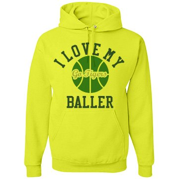 Baller Basketball Fan Unisex JERZEES Neon NuBlend Heavyweight Hoodie