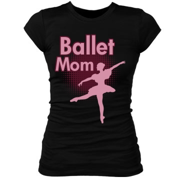 Ballet Mom Junior Fit Bella Sheer Longer Length Rib Tee