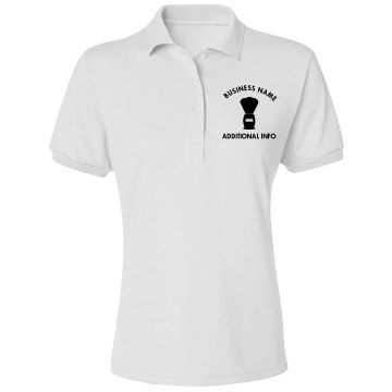 Barbar Salon Misses Relaxed Fit Jerzees Spotshield Polo Shirt