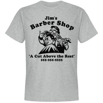 Barber Shop Cut Above Unisex Anvil Lightweight Fashion Tee