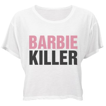 Barbie Killer Bella Flowy Boxy Lightweight Crop Top Tee