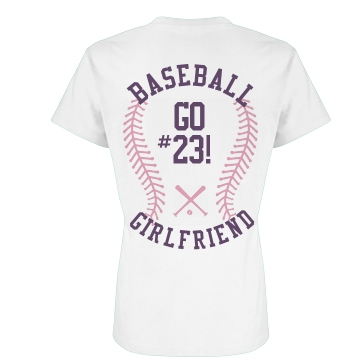 Baseball Girlfriend Pink Junior Fit Basic Bella Favorite Tee