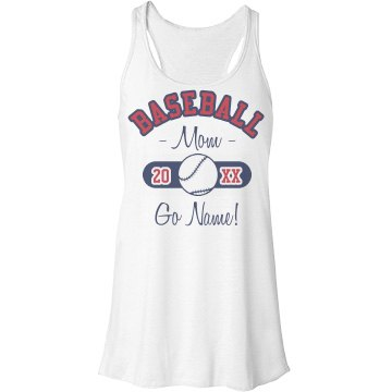 Baseball Mom Tank Bella Flowy Lightweight Racerback Tank Top