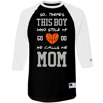 Basketball boy mom for Design your own basketball t shirt