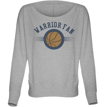 Basketball Fan Tee Bella Flowy Lightweight Long Sleeve Dolman Tee