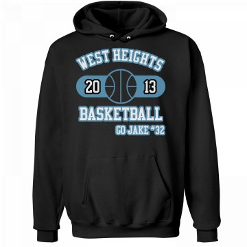 Basketball Hoodie Unisex Hanes Ultimate Cotton Heavyweight Hoodie