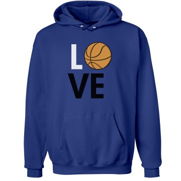 Basketball Mom Love Unisex Hanes Ultimate Cotton Heavyweight Hoodie