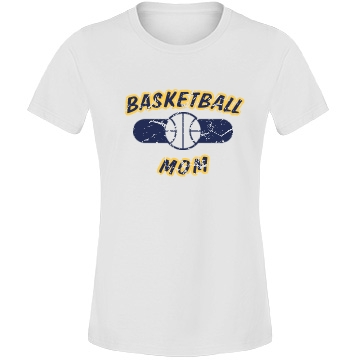 BASKETBALL MOM Misses Fit Anvil Lightweight Fashion Tee