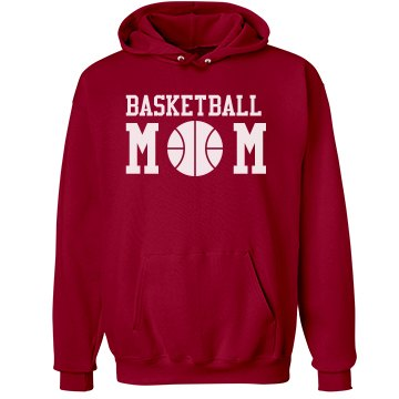 Basketball Mom Unisex Hanes Ultimate Cotton Heavyweight Hoodie