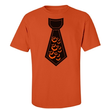 Bat Tie Dad Unisex Port & Company Essential Tee