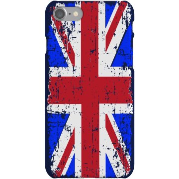 UK iPhone Case Rubber iPhone 4 & 4S Case White