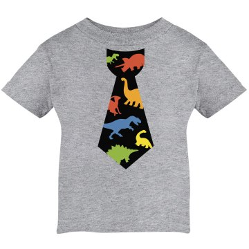 Dinosaur Tie Infant Rabbit Skins Cotton Tee