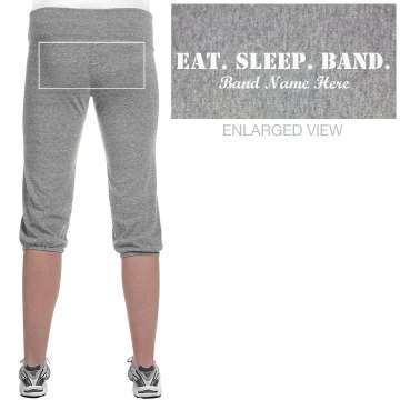 Eat. Sleep. Band. Capris Junior Fit Soffe Fleece Capri
