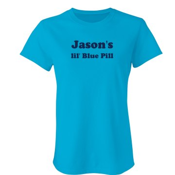 Blue Pill Junior Fit Bella Sheer Longer Length Rib Tee