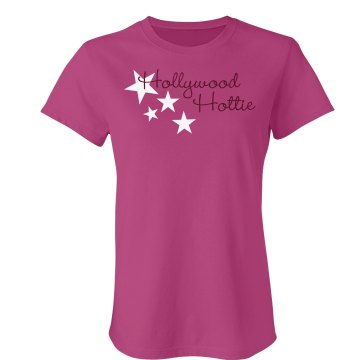 Hollywood Hottie Junior Fit Bella Sheer Longer Length Rib Tee