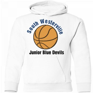 Bball Double Sided Hoodie Youth Gildan Heavy Blend Hoodie