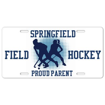 Field Hockey Plate License Plate