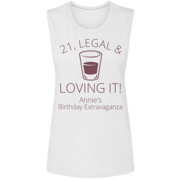 21 & Loving It! Junior Fit Bella Sheer Longer Length Rib Tee