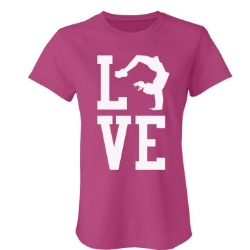Love to Flip Junior Fit Bella Sheer Longer Length Rib Tee