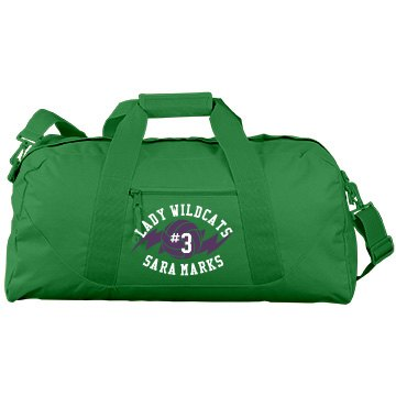 Lady Wildcats Port & Company Large Square Duffel Bag