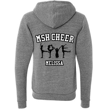 Cheer Hoodie Unisex Canvas Triblend Zip Hoodie