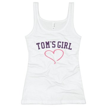 Tom's Girl Junior Fit Bella Longer Length 1x1 Rib Tank Top